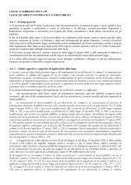 Legge 109-1994 - Regione Campania