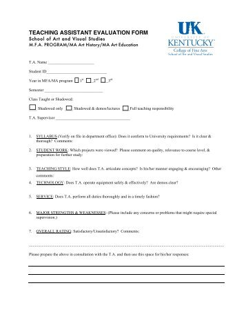 Course And Instructor Evaluation Form