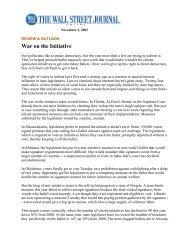 War on the Initiativ.. - Initiative and Referendum Institute