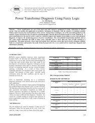 Power Transformer Diagnosis Using Fuzzy Logic - MNK Publication