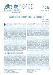 L'agriculture européenne en jachère - OFCE - Sciences Po