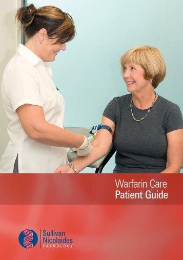 Warfarin Care Patient Guide - Sullivan Nicolaides Pathology