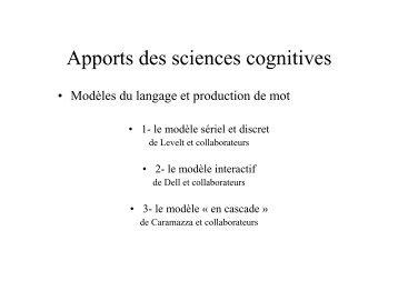 Apports des sciences cognitives - Resodys