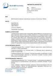 YMPÄRISTÖLUPAPÄÄTÖS - Aluehallintovirasto
