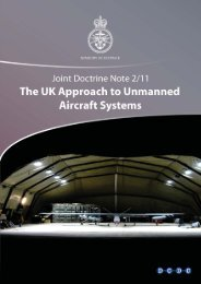 The UK Approach to Unmanned Aircraft Systems - Gov.uk