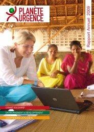 Rapport d'activité annuel de l'association ... - Planète Urgence