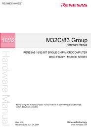 M32C/83 Group Hardware Manual - TE-EPC-LPC