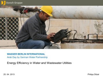 Energy Efficiency in Water and Wastewater Utilities - ACWUA