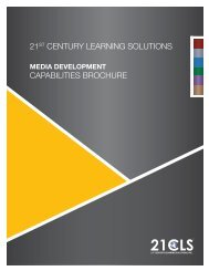 Media Brochure - 21st Century Learning Solutions