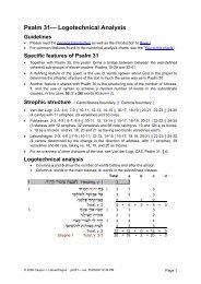 Logotechnical Analysis of Psalm 31 - labuschagne