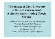 A citation analysis using Google Scholar - OpenGrey
