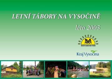 Letní tábory na Vysočině - Extranet - Kraj Vysočina