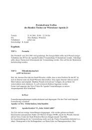 Protokoll Runder Tisch 23.10.01 - Agenda-wuerselen.de