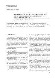 Xyy karyotype in a mentally retarded man with - Balkan Journal of ...