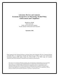 Literature Review and Analysis - the Alcohol Policy Information ...