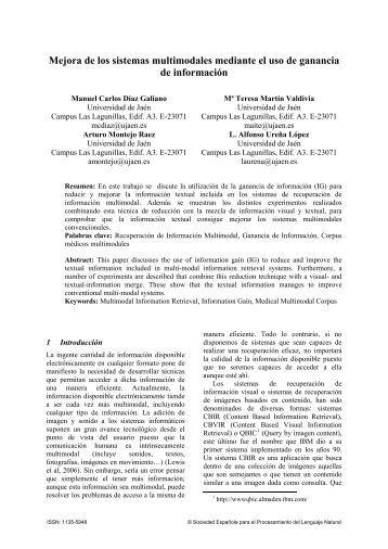 Mejora de los sistemas multimodales mediante el uso de ... - sepln