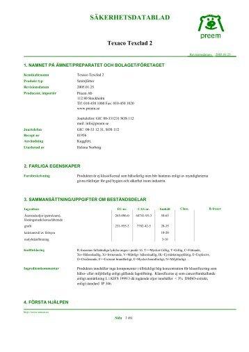 SÄKERHETSDATABLAD - Stena Metall Group