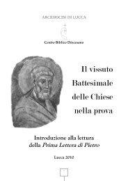 La Prima Lettera di Pietro - Arcidiocesi di Lucca