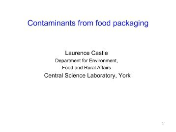 Contaminants from food packaging - jifsan