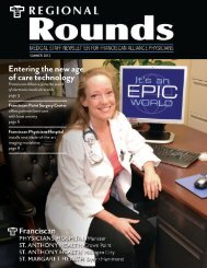 SCS featured in Franciscan Alliance publication, Regional Rounds
