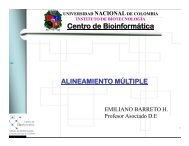 Alineamiento multiple - Universidad Nacional de Colombia