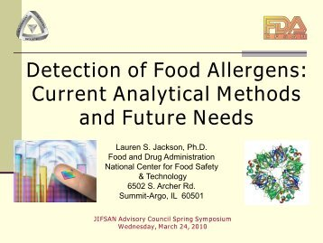 Detection of Food Allergens: Current Analytical Methods and ... - jifsan