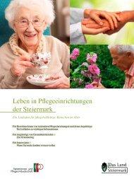 Leben in Pflegeeinrichtungen der Steiermark - Land Steiermark