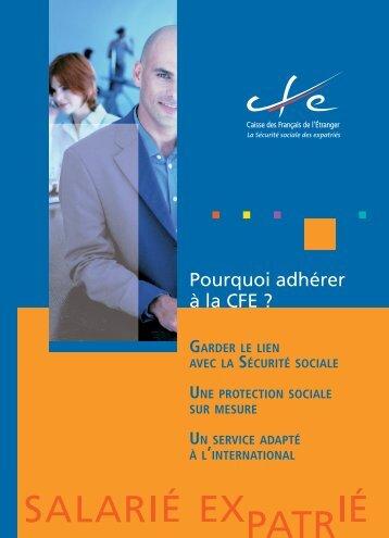 Pourquoi adhérer à la CFE ? - Caisse des Français de l'Etranger