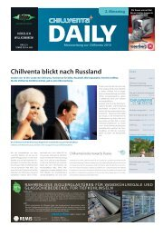 Internationale Fachmesse für Kälte, Raumluft ... - auf der Chillventa