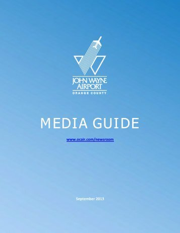 JOHN WAYNE AIRPORT MEDIA GUIDE