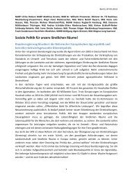 Soziale Politik für unsere ländlichen Räume - Dr. Wilhelm ...