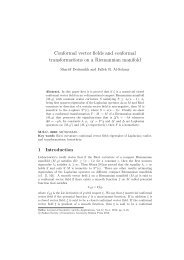 Conformal vector fields and conformal transformations on a ...