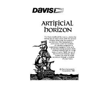 Artificial Horizon Manual - Davis Instruments Corp.