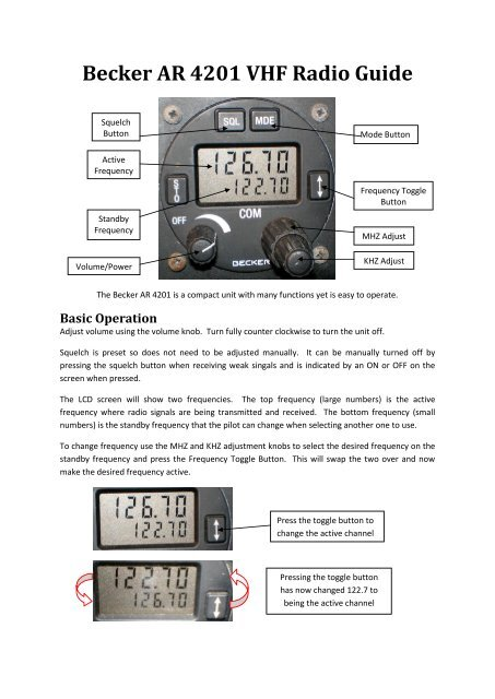 Becker AR 4201 VHF Radio Guide pdf