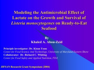 Predictive Modeling for Listeria monocytogenes as a ... - jifsan
