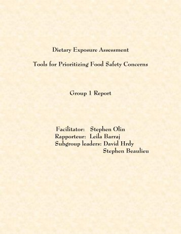 Dietary Exposure Assessment - jifsan