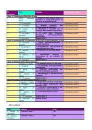 N. settimane Data Modulo Laboratorio on line 1 10-14 settembre ...