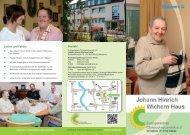 Prospekt zum Johann Hinrich Wichern Haus - Cwdu.de