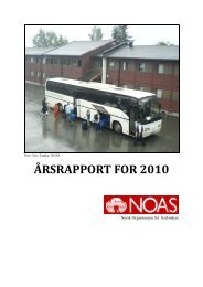 ÅRSRAPPORT FOR 2010 - Norsk Organisasjon for Asylsøkere