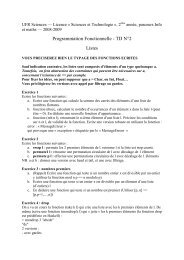 Programmation Fonctionnelle - TD N°2 Listes
