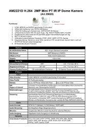 AM2221D H.264 2MP Mini PT IR IP Dome Kamera (Art.39820)
