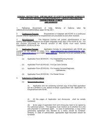 general instructions : empanelment of hospitals/nursing ... - ECHS