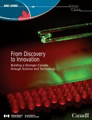 From Discovery to Innovation - National Research Council Canada
