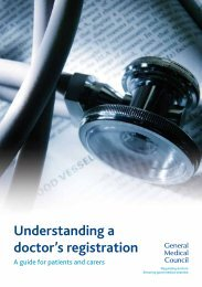 Understanding a doctor's registration - General Medical Council