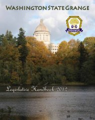 Legislative Handbook 2012 - Washington State Grange