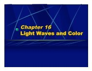 Chapter 16 Light Waves and Color - Oswego