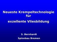 Neueste Krempeltechnologie - Hofer Vliesstofftage in Hof