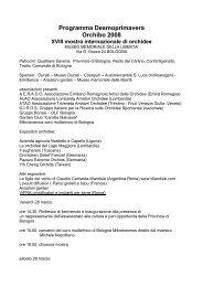 Programma Desmoprimavera Orchibo 2008 - GIROS - Gruppo ...