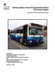 Monterey-Salinas Transit ITS Augmentation Project: Final Phase III ...