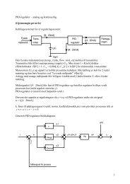 PID-regulator – analog og kontinuerlig - Of the Clux